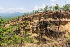 土井Tok大峡谷在Mae Wang国家公园, Chiangmai泰国 库存图片