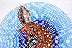 土产澳大利亚艺术小点绘画 免版税库存图片