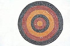 土产澳大利亚艺术小点绘画 免版税库存照片