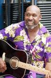 土产澳洲的吉他弹奏者 库存照片