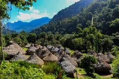 土产镇到哥伦比亚的山里 免版税库存照片