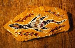 土人艺术部族澳洲的图画 免版税库存图片