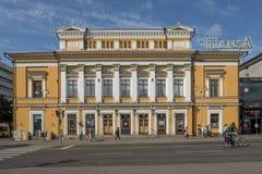 土佬Svenska剧院是芬兰瑞典剧院在市图尔库,芬兰 库存照片