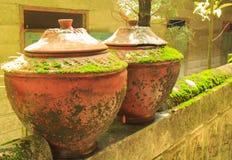 土制瓶子,泰国 库存照片