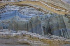 黏土和沙子峭壁 库存照片