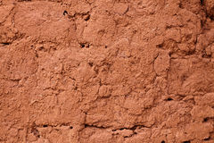 黏土土制墙壁 免版税库存照片