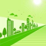 绿土在都市感觉的生态概念 免版税图库摄影