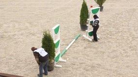 土地为骑马竞争做准备 影视素材