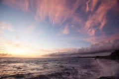 土地和海和天空 免版税图库摄影