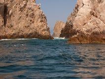 土地末端,在Cabo圣卢卡斯附近 库存图片