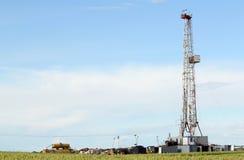 土地石油钻井船具 免版税库存照片
