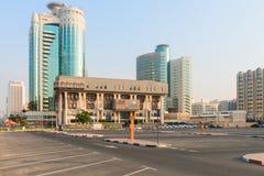 土地部门迪拜的政府大厦 免版税图库摄影