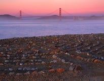 土地` s末端迷宫在旧金山 免版税库存图片