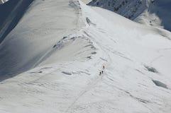 土坎滑雪 图库摄影
