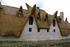 黏土城堡,神仙的谷,罗马尼亚- 8可以2016年 免版税库存照片