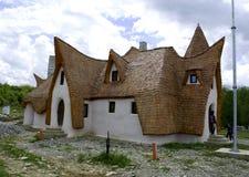 黏土城堡,神仙的谷,罗马尼亚- 8可以2016年 免版税图库摄影