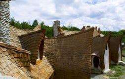 黏土城堡,神仙的谷,罗马尼亚- 8可以2016年 库存照片