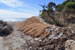 土壤侵蚀保护障碍布料 库存图片