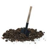 土壤和铁锹 库存照片