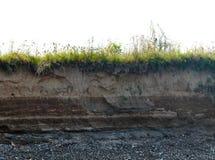 土壤层 免版税库存照片