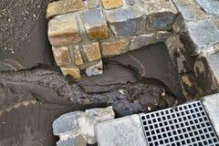 土壤水蚀  库存图片