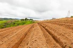 土壤的准备耕种的 图库摄影