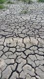 土壤高明的黏土稻田交换 免版税库存图片