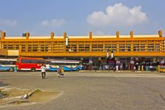 贡土尔汽车站 免版税图库摄影