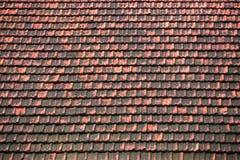 黏土屋顶背景纹理 免版税库存图片