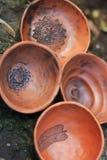 黏土手工制造碗 库存图片