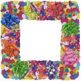 黏土抽象照片框架拼贴画 免版税库存图片