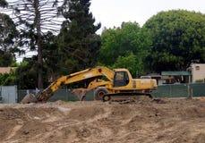 土挖掘机 库存图片