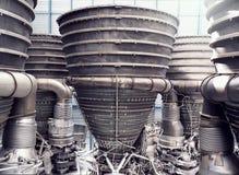 土星5号火箭发动机关闭  免版税库存照片