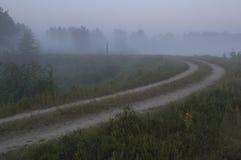 土有雾的路 库存图片