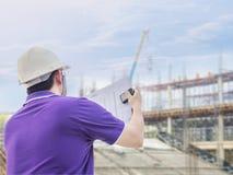 土木工程师在工作 免版税库存照片