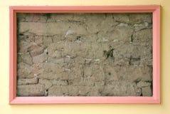 土构成的墙壁 库存照片