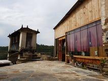 土气农厂房子在加利西亚 库存图片