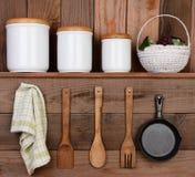土气厨房显示 免版税库存图片