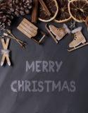 土气圣诞节背景 免版税库存照片