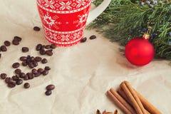 土气圣诞节背景 图库摄影