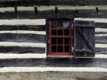 土气墙壁视窗 库存照片