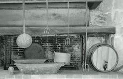 土气室外厨房, Lassi, Kefalonia,希腊 库存图片