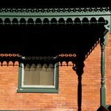 土气屋顶阳台的阴影 免版税图库摄影