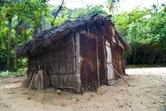 土气房子在森林 免版税图库摄影