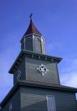 土气教会尖顶 库存图片