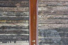 土气木板条墙壁 库存图片