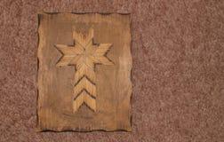 土气木比赛棍子假日十字架 图库摄影