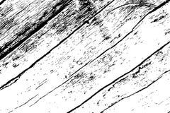 土气木纹理 被风化的木材黑白纹理 概略的木委员会表面 库存例证