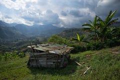 土气棚子在哥伦比亚 免版税库存图片