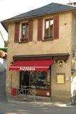 土气比萨店在法国 库存图片